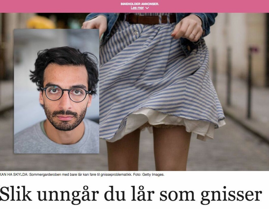 Kaveh Rashidi reagerer på MinMote-artikkel. Foto: Erlend Berge/Skjermdump fra MinMote