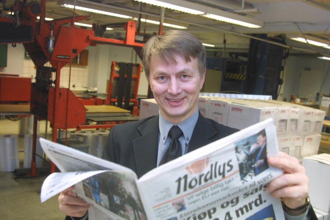 Den gang i 2002: Sjefredaktør Hans Kristian Amundsen i Nordlys.