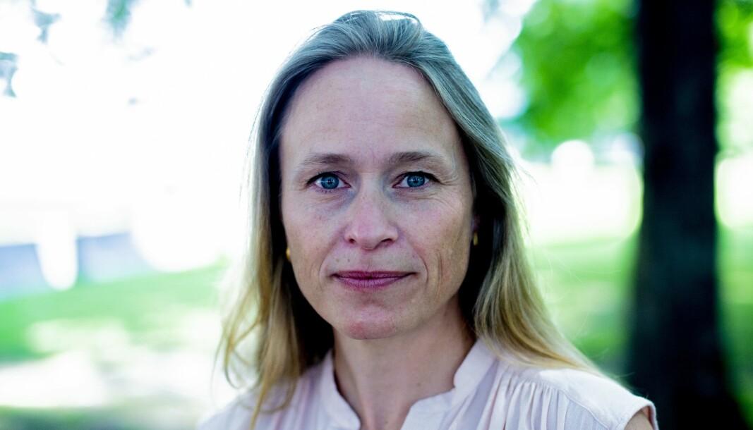 Irene Halvorsen er sjefredaktør i Nationen. Hun er klar på at den tradisjonsrike avisen skal beskytte sin identitet, også som del av Amedia-konseret.