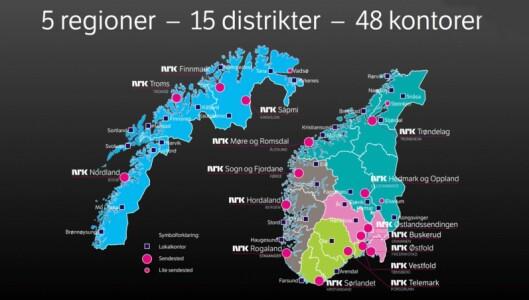 En oversikt over NRKs ulike kontorer.