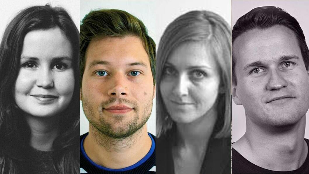 Heidi Sævold (27), Arne Fenstad (32),Ellen Viseth (33) og Adrian Jensen (26). Med seg får de også Erik Martiniussen (41).