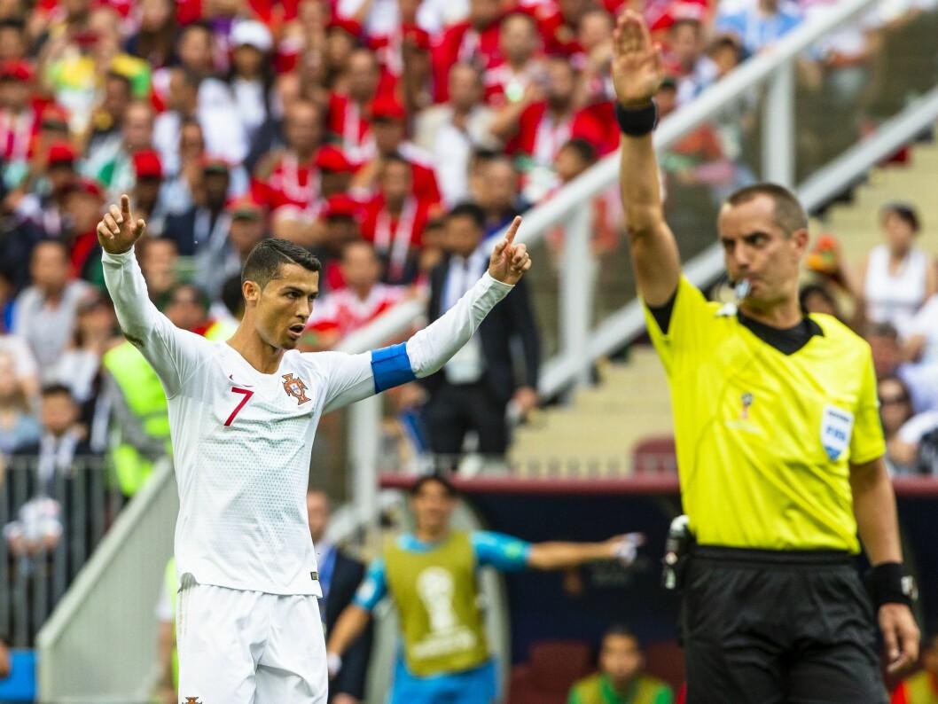 I somme forlot Christiano Ronaldo Real Madrid - og skal fra høsten av spille for Juventus. Uansett om du vil se han gamle etter nye lag, trenger du Strive-abonnement.  Her er han avbildet under sommerens fotball-VM. FOTO: NTB Scanpix