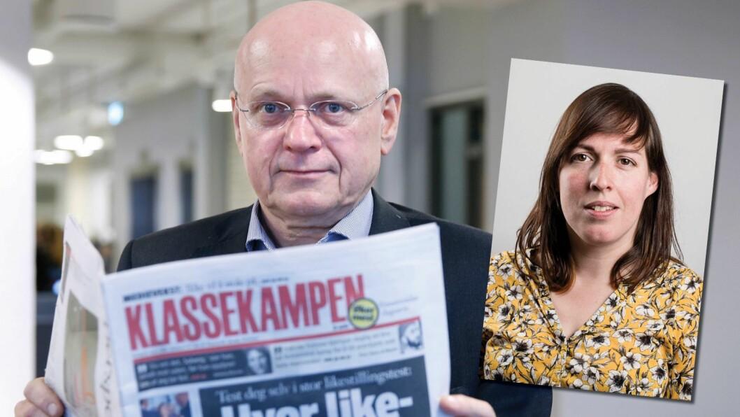 Klubbleder Carline Tromp reagerer på at de ansatte ikke får være med i utvalget som skal finne Bjørgulv Braanens erstatter i «Venstresidas dagsavis» - Klassekampen.