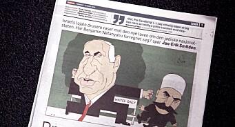 Israels ambassade klager Dagbladet inn til PFU for satiretegningen av Benjamin Netanyahu med hakekors-kropp