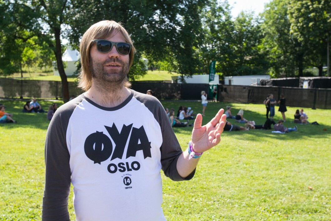 Jonas Prangerød, PR-sjef på Øyafestivalen i Oslo, her fra festivalen i 2014