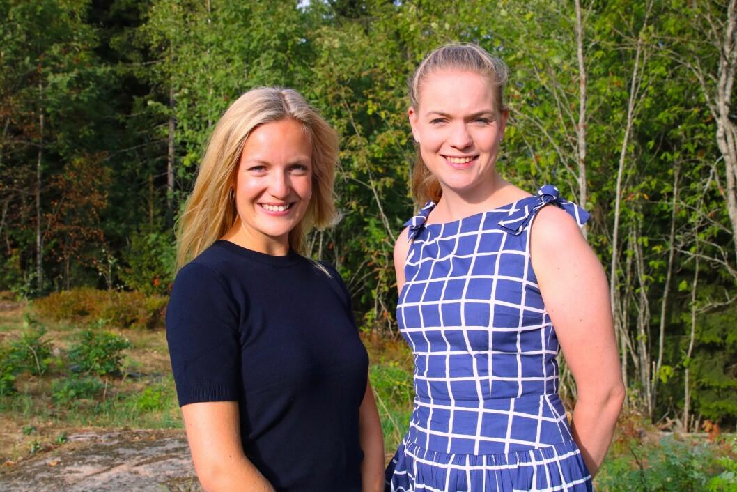 Elise Fischer (v) og Kine Nossen (h) er ansatt som konsulenter i Corporate Communications.