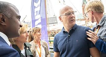 - Viktig å møtes «face to face», sier Thor Gjermund Eriksen. I dag åpnet NRK dørene for «vanlige folk» under Arendalsuka