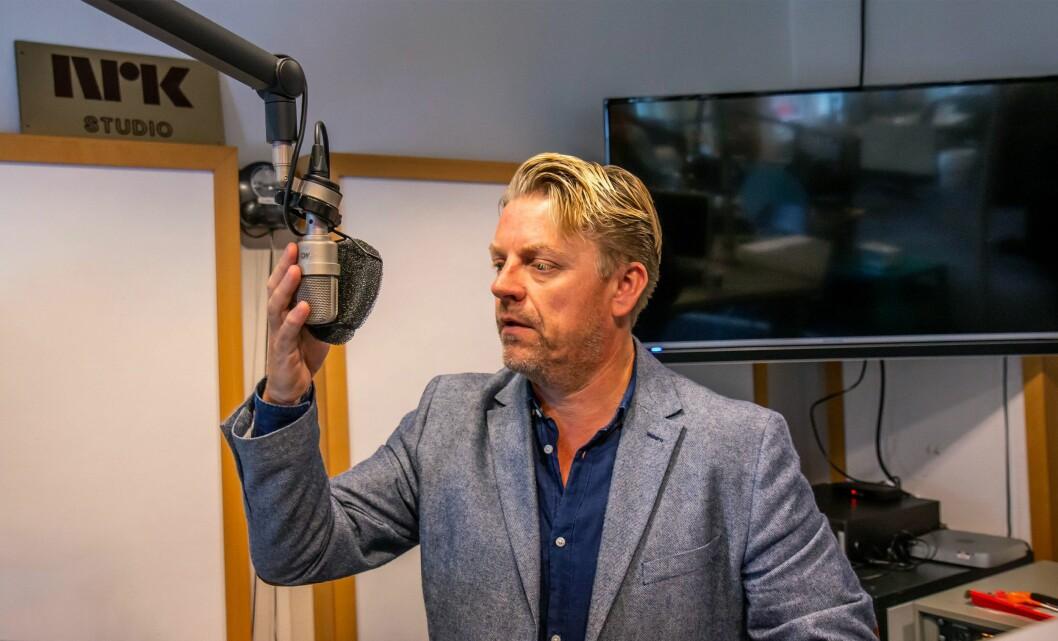 Programleder Erik Wiig Andersen i NRK.