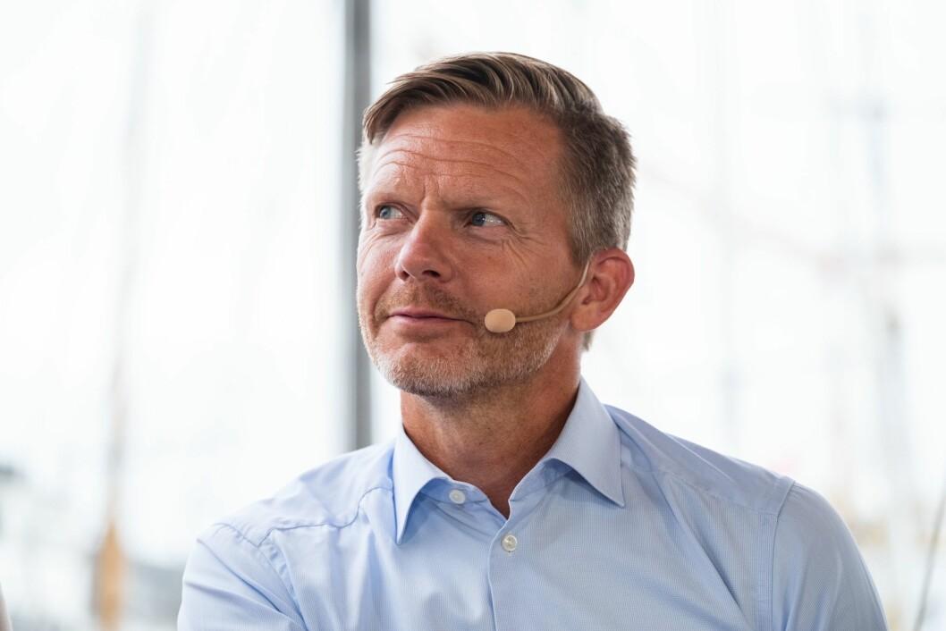 Mediepolitisk talsmann Tage Pettersen (H) mener NRK bør etterstrebe å være tilgjengelig også utenfor Norge. Her fotografert på mediedebatt under Arendalsuka 2018.