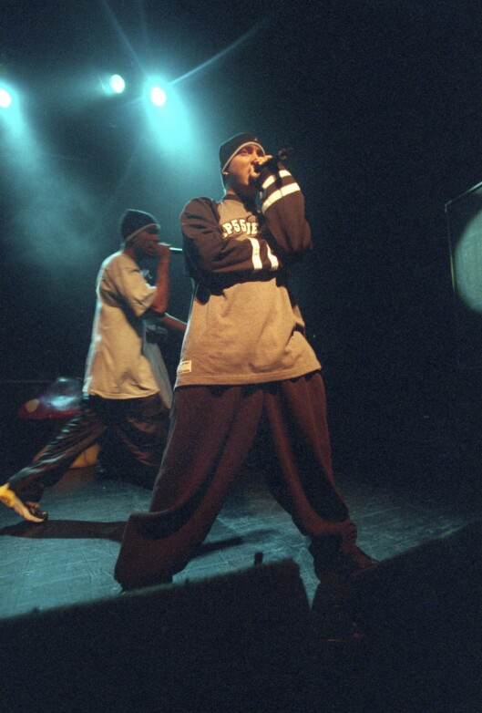 Eminem på sin første konsert i Oslo i 1999.