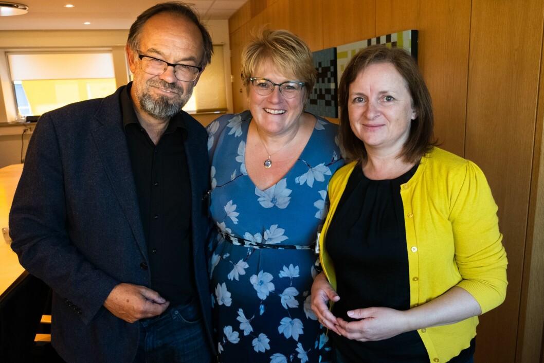 Noregs Mållag ved leder Magne Aasbrenn og daglig leder Gro Morken Endresen møter kulturminister Trine Skei Grande (V) i Kulturdepartementet tirsdag.
