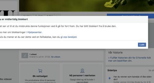 Bodø NU og Rana No fikk ikke publisere noe på Facebook-sidene sine. - En feil, svarer selskapet