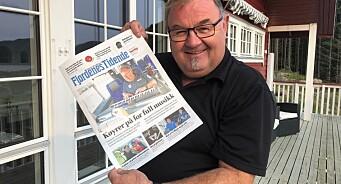 Redaktør Erling Waage (60) fikk helt egen utgave av Fjordenes Tidende i bursdagsgave - den første lørdagsavisa på 108 år