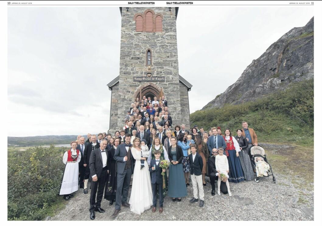 I avisa var det helt dagsferske bilder fra bryllupet.