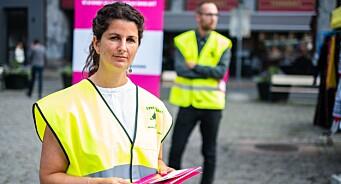 – Vi håper folk blir engasjerte når de vet at det går utover store produksjoner de vil se på TV, sier streikevakt i Norsk Filmforbund