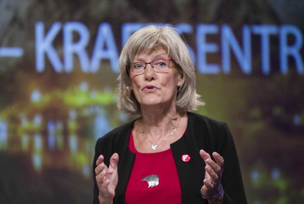 Karin Andersen, stortingsrepresentant (SV), her i debatt under Arendalsuka. Foto: Terje Pedersen / NTB Scanpix