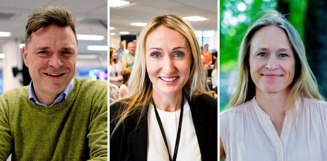 Espen Egil Hansen i Aftenposten, Kirsti Husby i Adresseavisen og Irene Halvorsen i Nationen.