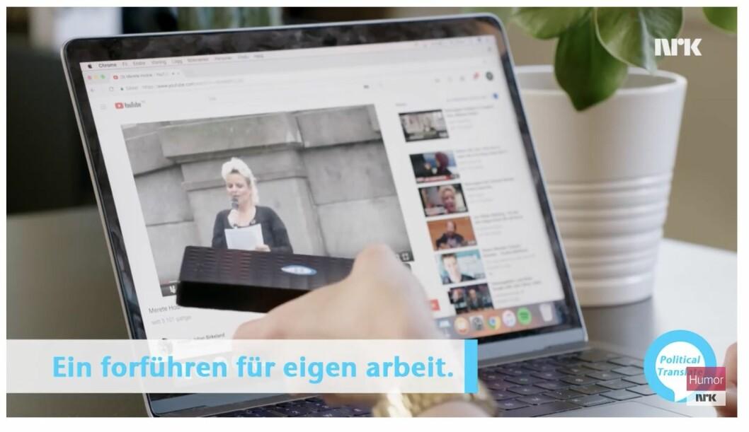 Merete Hodnes stemme ble erstattet av Hitlers stemme i NRK-innslaget.