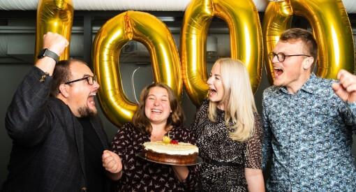 I dag jubler Medier24 over en milepæl: Vi har nemlig fått 1.000 betalende abonnenter