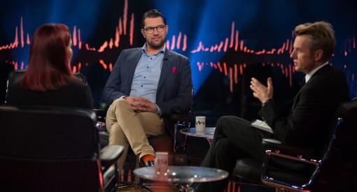 Sverigedemokraternas leder på Skavlan: – Det pågår en kulturkrig i Sverige