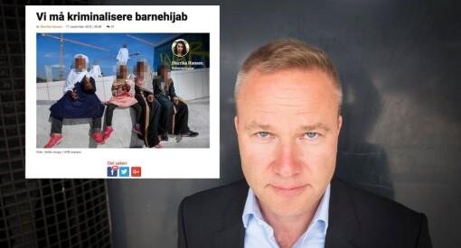 Resett og Helge Lurås beklager at de brukte NTB Scanpix-bilde ut av kontekst til å illustrere kronikk om barnehijab