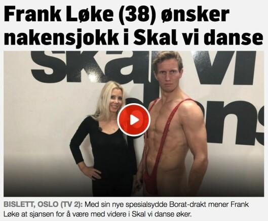 Faksimile fra TV 2.no.