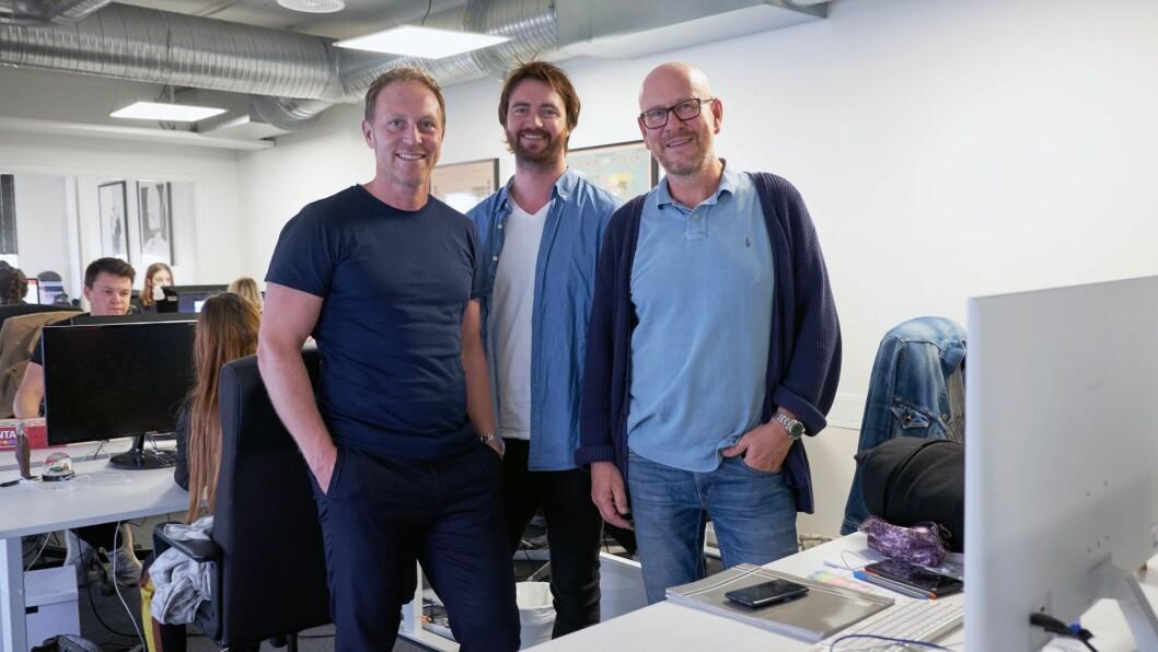 Fra venstre: CEO Martin Bentzen i GroupM, daglig leder Gunnar Stensaker i TRY Opt og adm. dir Kjetil Try i TRY A/S