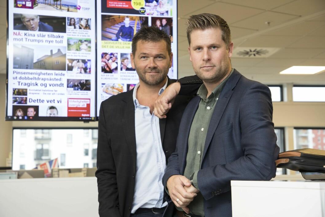 Digitalredaktør Jonas Jørstad i Seoghør.no og i Dagbladet Kjendis - og videodirektør Mads A. Andersen i Aller Media.