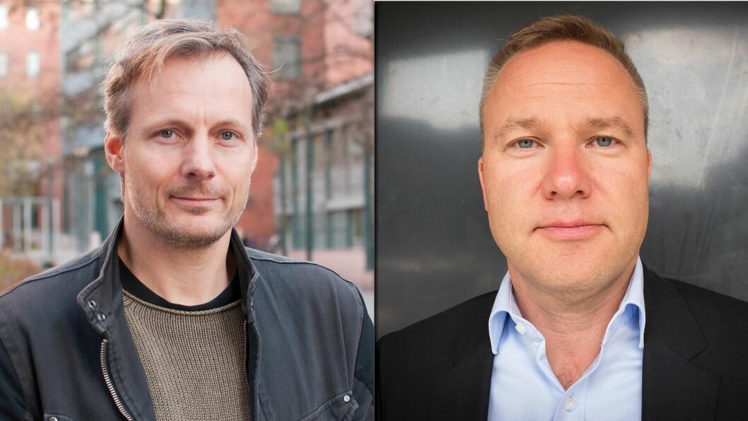 Medieprofessor Steen Steensen ved OsloMet og redaktør Helge Lurås i Resett.