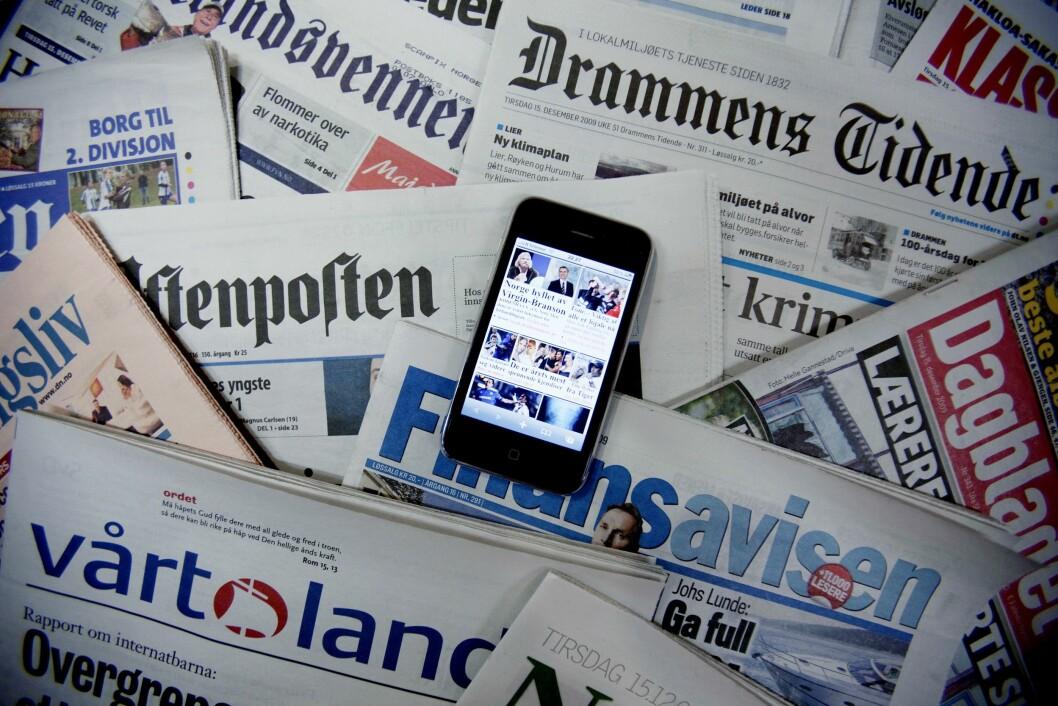 Illustrasjon norske aviser
