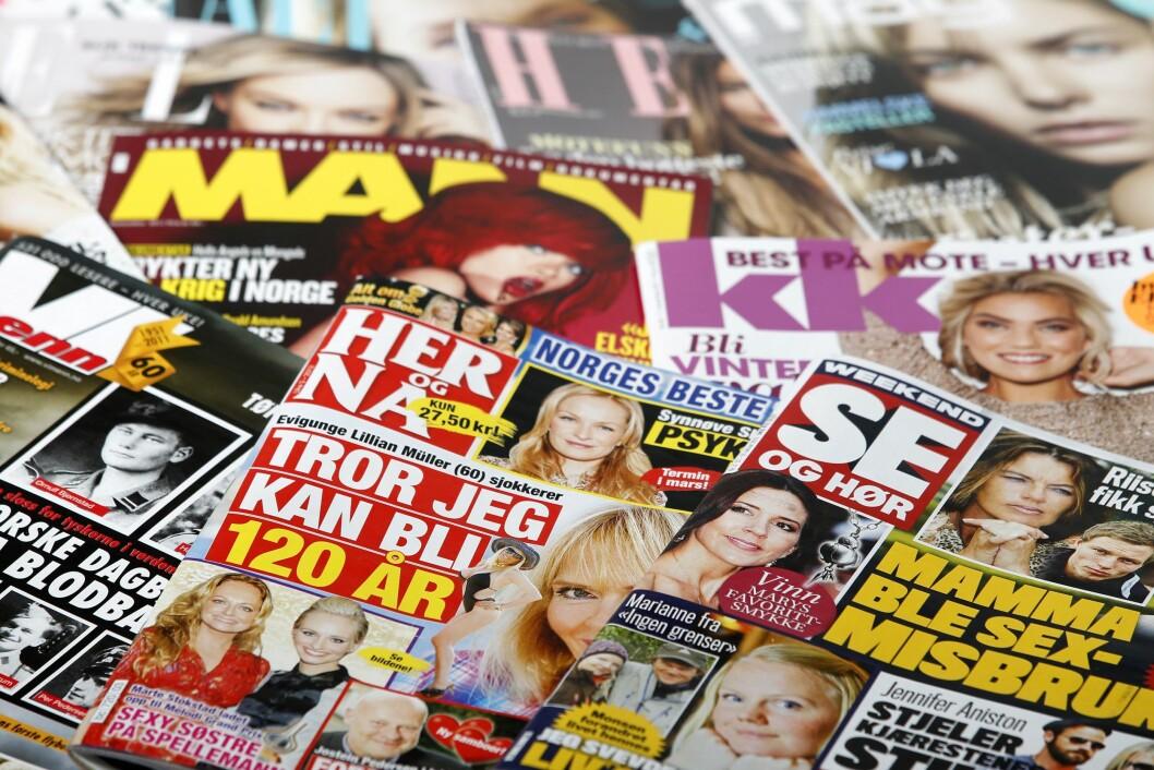 25 prosent av den norske befolkningen over 12 år leser daglig minst ett magasin. Illustrasjonfoto