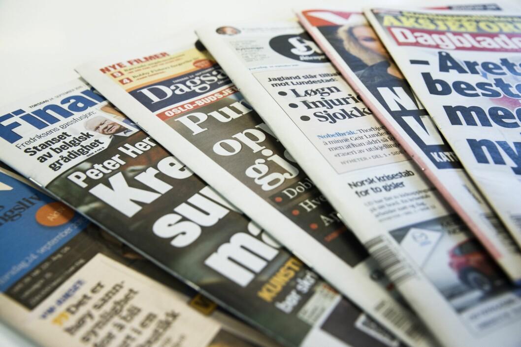 Aviser blir det på lørdager.