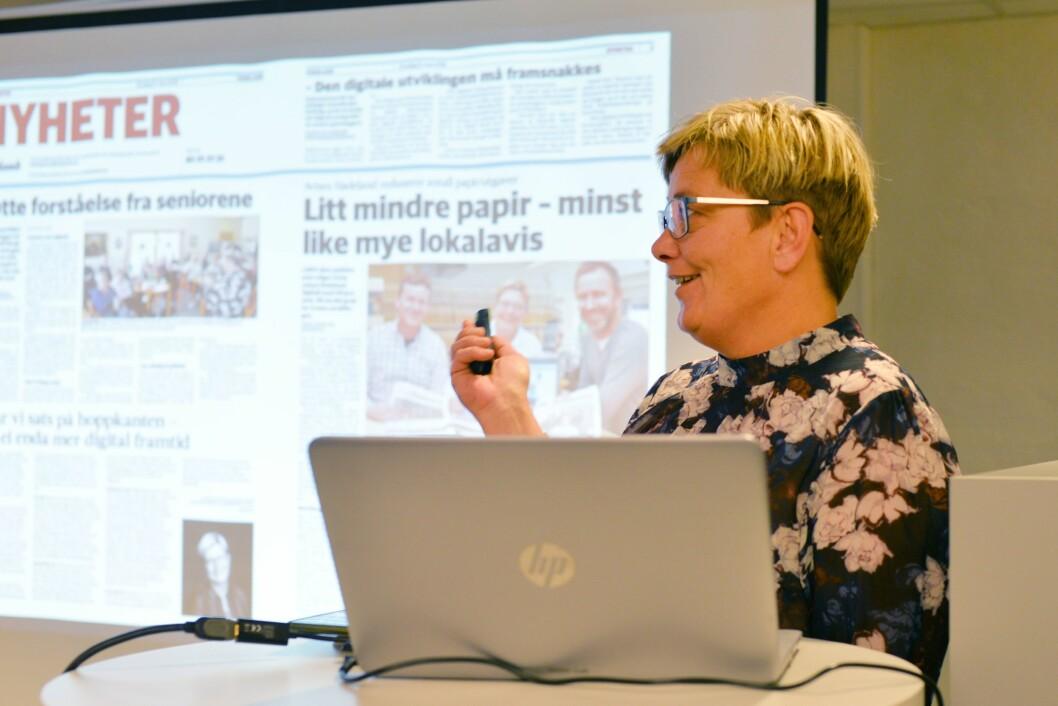 Sissel Skjervum Bjerkehagen, redaktør i Avisen Hadeland