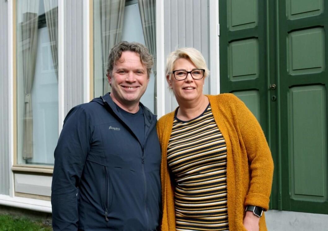 Redaktør Pål Leknes Hanssen og markedssjef Kjersti Krutnes lanserer i dag Vefsn No