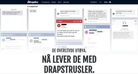 Faksimile fra Aftenpostens artikkel.