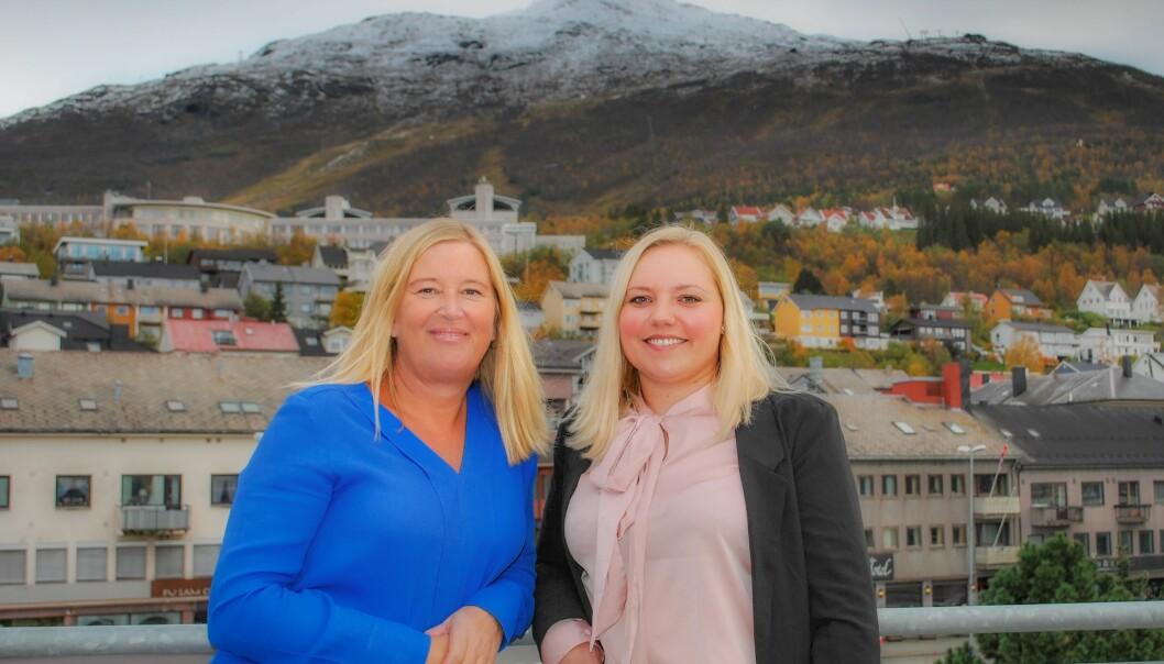 Tove Kirkefjord og Frida Brembo i Narvik Nu. Foto: Bodø Nu