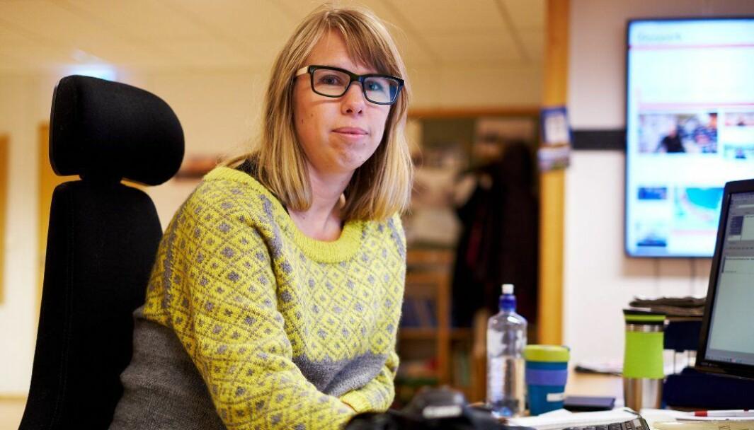 Nyhetsredaktør i Nidaros, Anniken Renslo Sandvik, er stolt over at redaksjonen har fått et klart overtall av kvinnelig kilder på fronten til Nidaros i anledning kvinnedagen.
