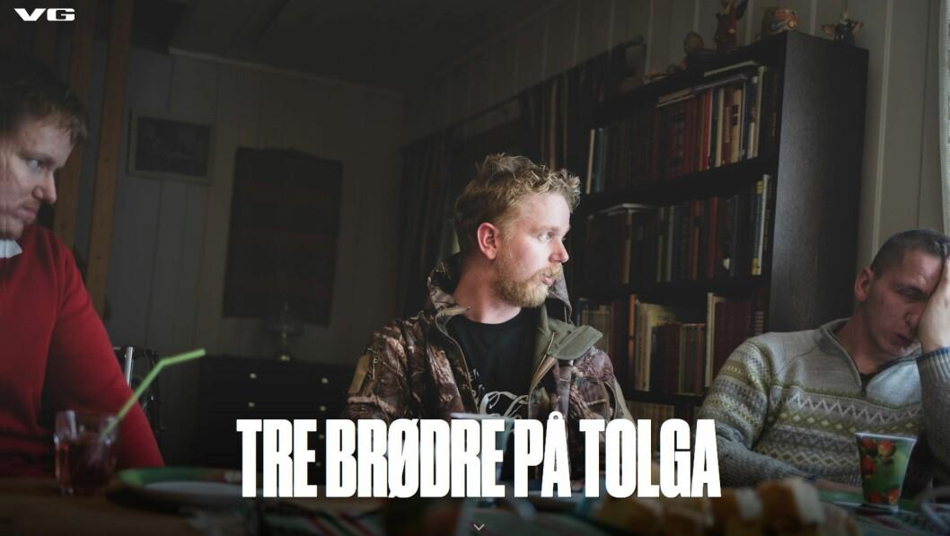 Faksimile fra VGs artikkel «Tre brødre på Tolga»