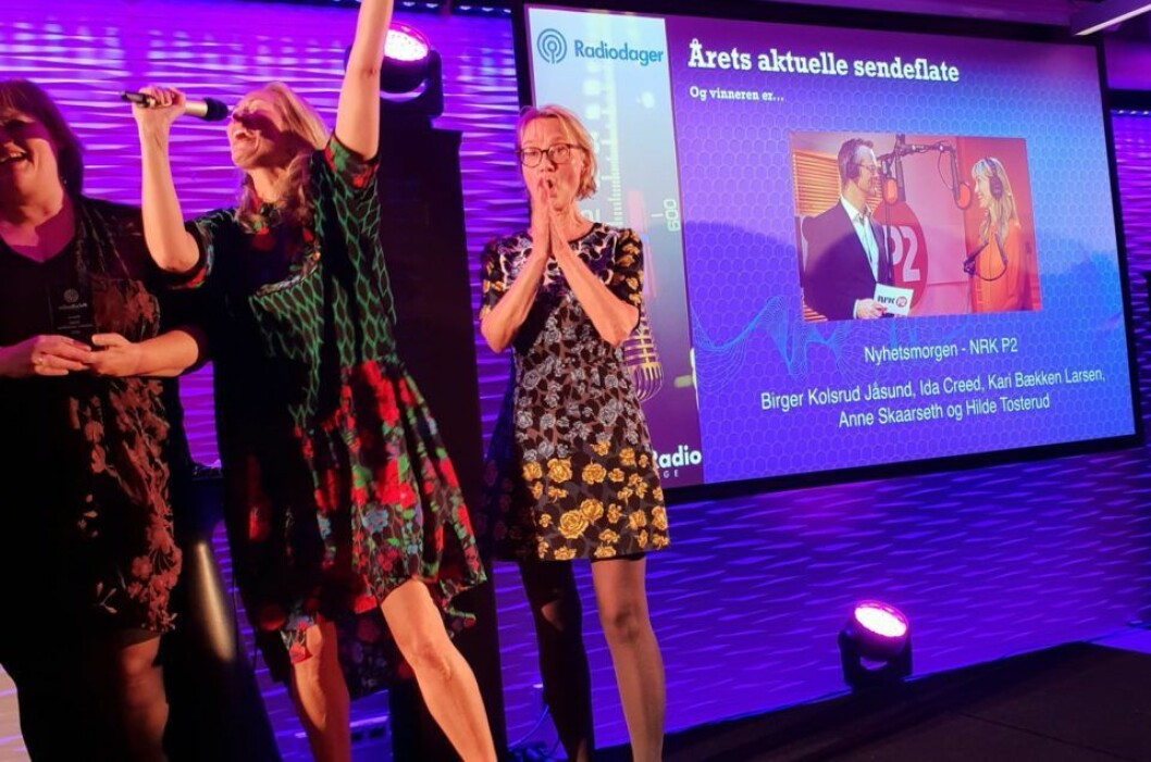Det er optimisme i radiobransjen, skriver Kyrre Dahl. Her fra da P2 Nyhetsmorgen vant prisen for årets aktuelle sendeflate under Prix Radio i 2018
