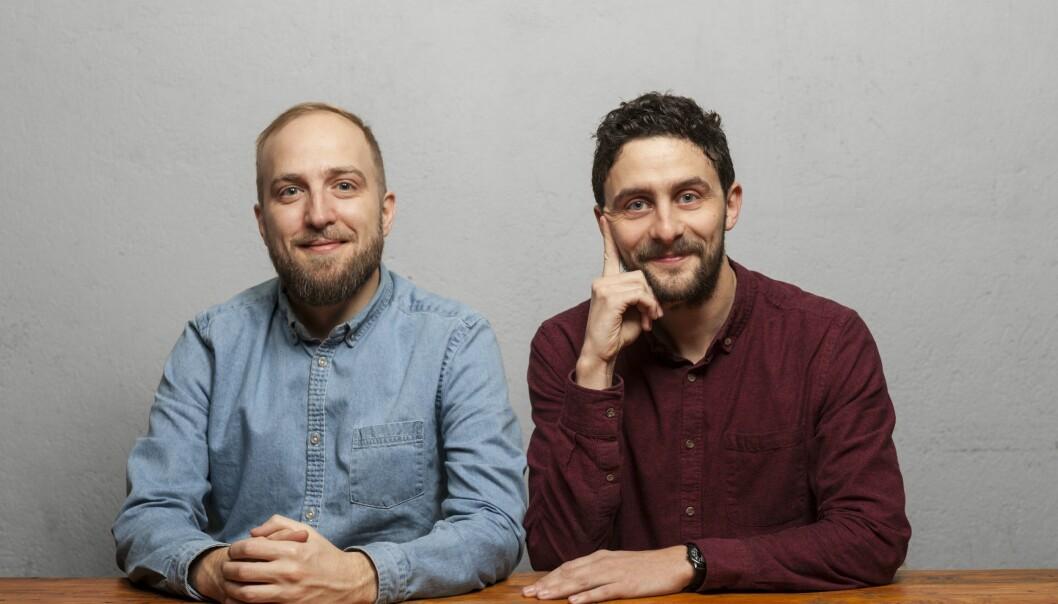 CTO Frode Jensen og daglig leder Daniel Butler i Socius.