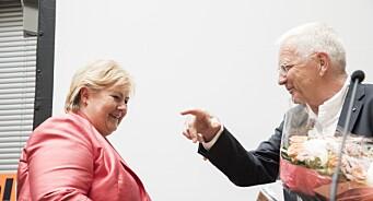 – Ærlig talt, Trygve Hegnar, sier Erna Solberg. Hun og Grande reagerer kraftig på redaktørens utspill