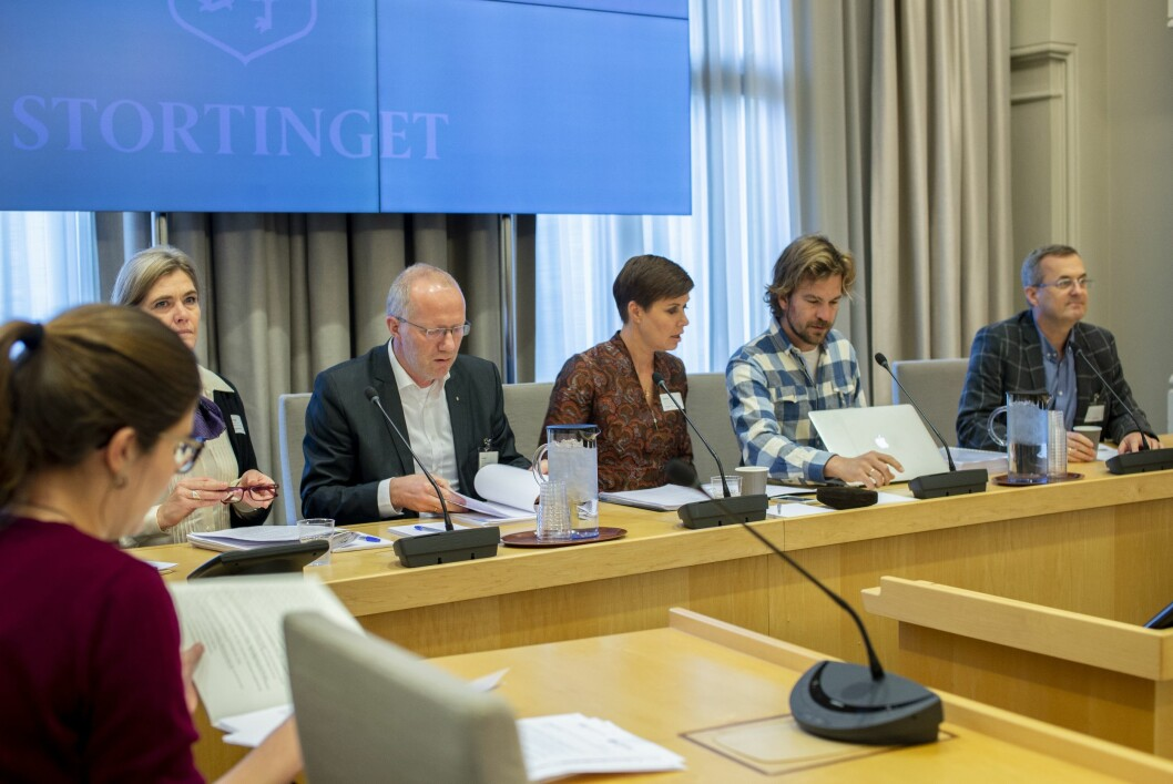 Presseorganisasjonene på høring i stortingets finanskomité.