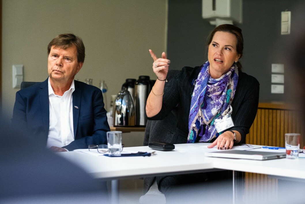 Svein Larsen og Hilde Apneseth i Radio Metro.