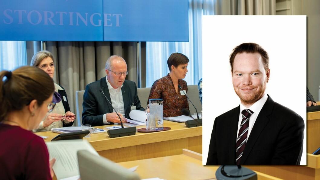 Statssekretær i Næringsdepartementet, Magnus Thue (H) svarer på kritikken fra presseorganisasjonene.