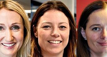 Marianne Steffensen Kielland, Kirsti Husby og Sarah Willand kan bli «Årets kvinnelige medieleder»