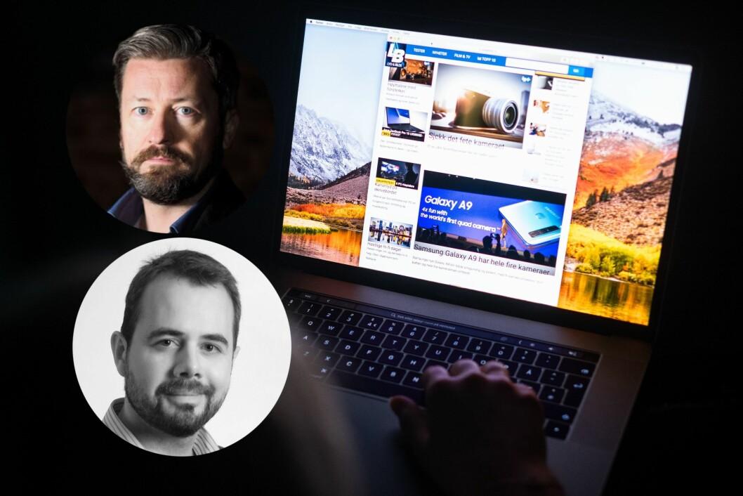 Lasse Svendsen, sjefredaktør, Lyd & Bilde og Tor Aavatsmark, daglig leder, Publish AS går ut mot egen eier.