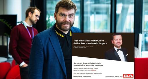 Bergensavisen ville sette inn denne annonsen hos konkurrenten Bergens Tidende. Det fikk de blankt nei til