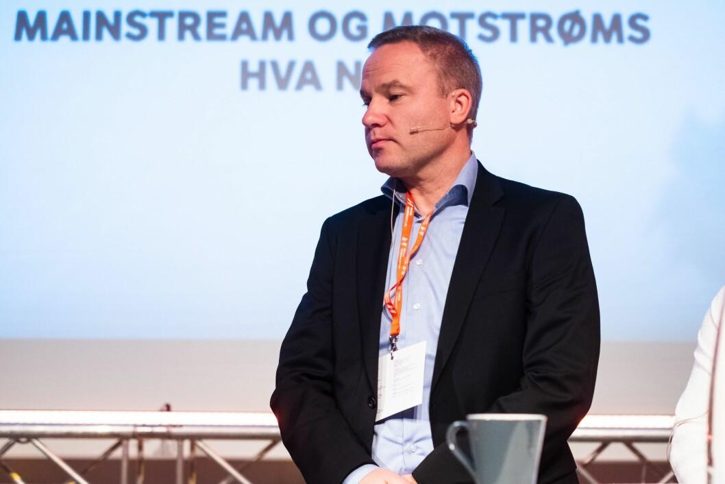 Redaktør Helge Lurås i Resett. Her fra en debatt om mediemangfold.