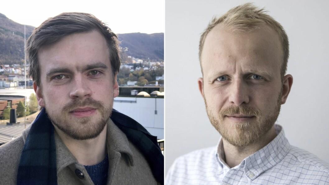 Adrian Nyhammer Olsen (t.v.) og Eivind Fondenes.