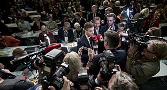 170 akkrediterte til KrF-landsmøtet: – Vi nærmer oss én journalist per delegat
